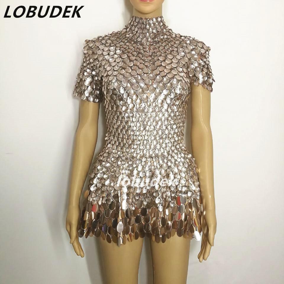 Женское сексуальное платье с золотыми пайетками цельные Клубные костюмы Боди с кристаллами сексуальные джазовые выступления танцевальные...