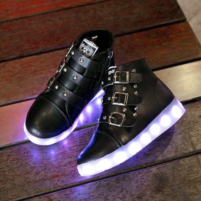 Ładowania USB Trampki Luminous led buty chłopiec buty na - Obuwie dziecięce - Zdjęcie 2