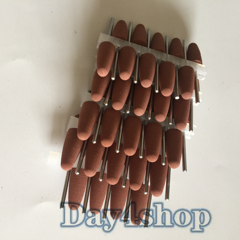 50PCS brown Assorted SILICONE polishers 2.35mm Diamond polishing Burs  Online dental kerr finishing polishing assorted kit occlubrush cup brushes