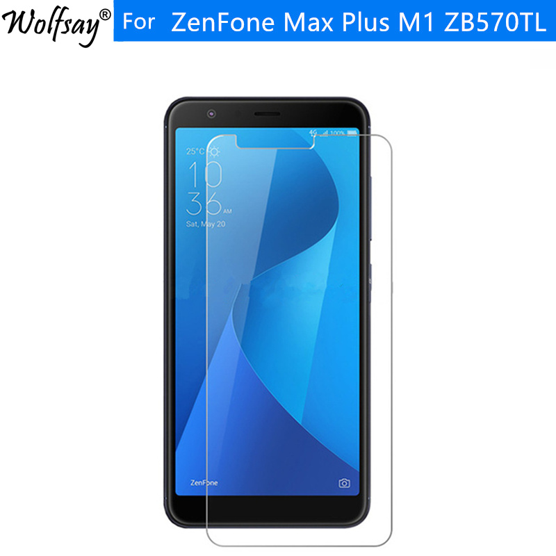2pcs For Tempered Glass Asus ZenFone Max Plus M1 Screen Protector HD Film For Asus ZenFone Max Plus ZB570TL Glass X018D Wolfsay