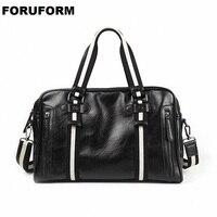 Men Handbag Leather Large Travel Bag Fashion Shoulder Bag Male Travel Duffle Tote Bag Casual Messenger Crossbody Bags LI 2396