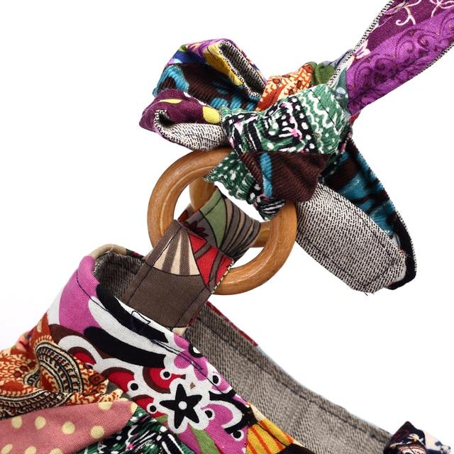 Women Shoulder Bag Cotton Fabric Handbags Adjustable Patchwork Hippie Bag Large Capacity Hobo Gypsy Bag 3