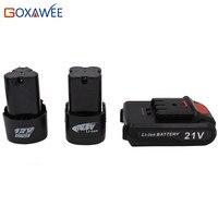 Goxawee 12 В 16,8 21 перезаряжаемые литиевых батарея для беспроводные электрическая отвертка дрель бытовой Мощность Инструмент