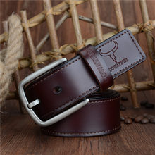 Retro Genuine Leather Pin Buckle Belt