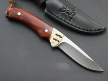 Elk Eidge 7CR13MOV Full Tang Fixed Hunting Knife Outdoors Camping Tactical Knife Straight Knife