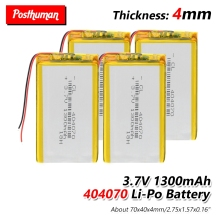 Polymer battery 1300 mah 37V 404070 Rechargeable Li-ion battery for smart home dvrGPSmp3mp4MID PDA PSP Power BankE-book