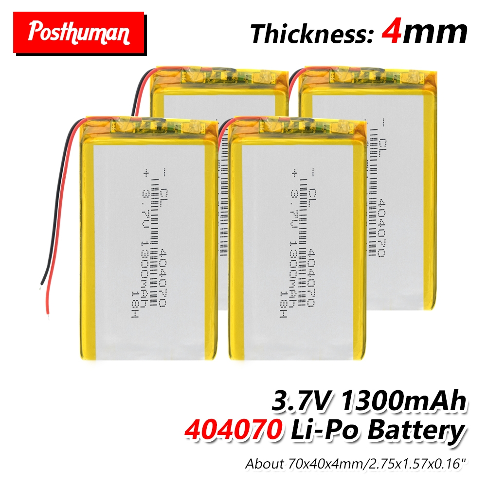 Polymer battery <font><b>1300</b></font> mah 3.7V 404070 Rechargeable Li-ion battery for smart home dvr,GPS,mp3,mp4,MID PDA PSP Power Bank,E-book image