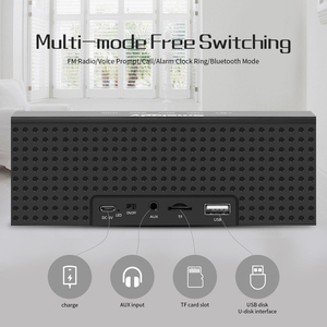 Image 5 - Smalody TV Bluetooth Speaker Portable Wireless Sound Bar Dual Loudspeakers 10W with Alarm clock LED Display Handsfree Call AUX