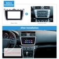 Harfey Автомобильная DVD стерео панель радио фасции Для 2009 2010 2011 2012 2013 Mazda 6 Dash Mount пластиковая металлическая рамка серебристый черный 2DIN