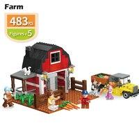assemble City Creator Town Farm Car Truck Construction DIY compatible building brick block kids Boys Kits toys children gift