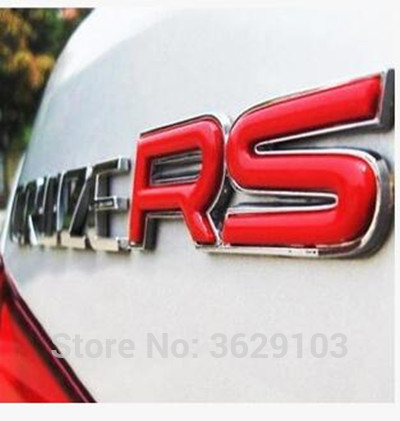 3D red metal RS alphabet car logo sticker accessories car-styling DIY for Land Rover discovery 2 3 4 freelander 1 2 defender a9