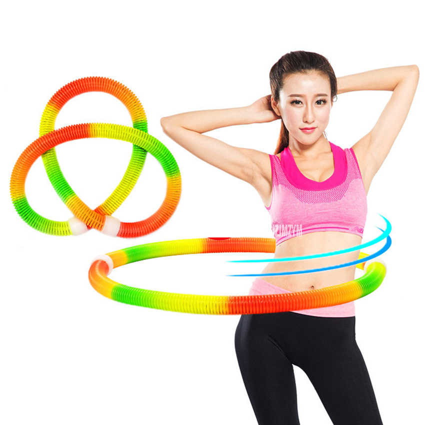 Dia 172CM Rainbow Color Sport Fitness Circle Bodybuilding Waist Slimming Sport Weight Loose Fitness Exercise Equipment