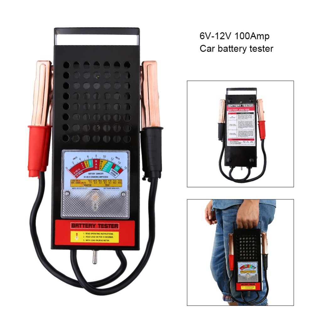 Punctual 12v Digital Battery Alternator Tester Car Vehicle Diagnostic Tool With 6 Led Lights Display Battery Testers For Car Motorcycle High Resilience Home