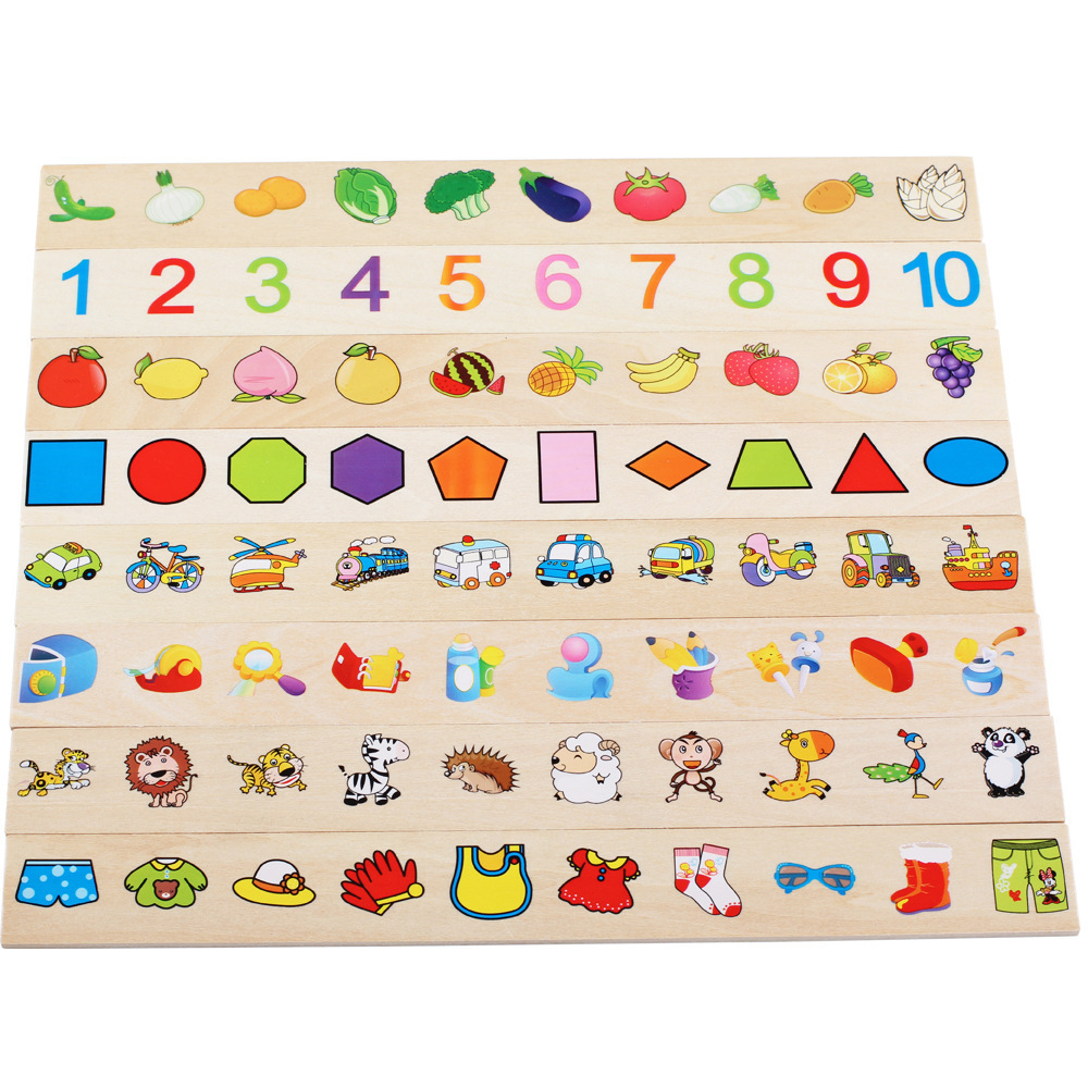 Wooden Educational Shape Color Sorting Puzzles Preschool Stacking Toddler Toys Educational Toys Children Puzzle