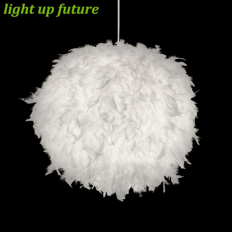 pluma de la manera moderna llev e lmpara colgante lmpara de techo para el dormitorio sala