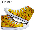 JUP  Shoes Cartoon Doraemon Fox Rabbit Spongebob Confused Doll Hand Painted Canvas Shoes for Mens Males Asual Shoes Boys Girls