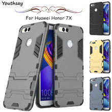 For Cover Huawei Honor 9X Case 5.93 Business Luxury Robot Hard PC Armor Phone 7X 8X