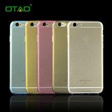 Ультратонкий Телефон Сумка Case для Iphone 6 6s Plus Крышка тонкий Ясно ТПУ Кремния Обложки Shell Прозрачный Защитный Розовый Синий золото