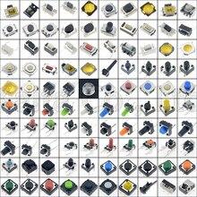 Minijuego de botones pulsadores de interruptor microinterruptor táctil para coche, reinicio de hoja, control remoto, reparación de tableta, pieza de PC, parche especial, 200 Uds. Surtido de botones