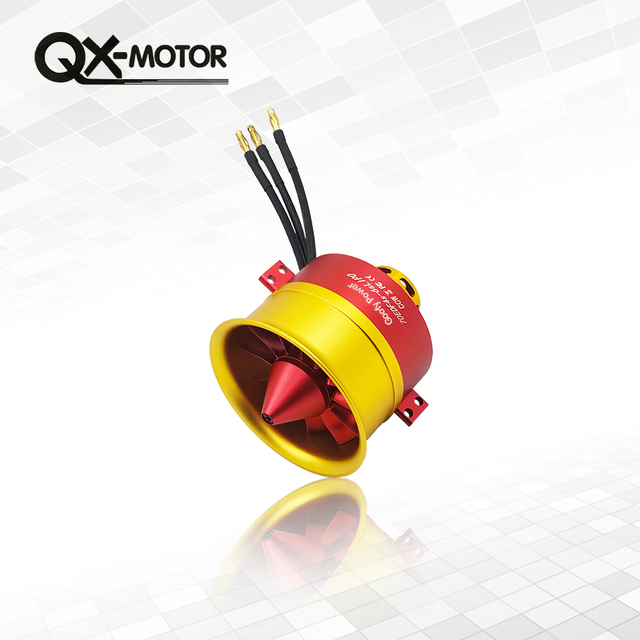 QX-MOTOR High Quality 70mm EDF 12blades 6S (2600g thrust) for 70mm Metal EDF airplane Ducted Fan EDF With Motor For RC Airplane