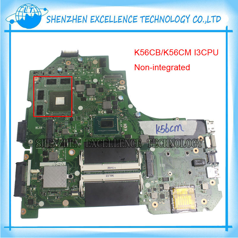 K56CB Laptop Motherboard for ASUS with I3 CPU Non-integrated K56CM mainboard 100% Tested&Free Shipping  k56cb laptop motherboard for asus with i7 cpu non integrated k56cm mainboard 100