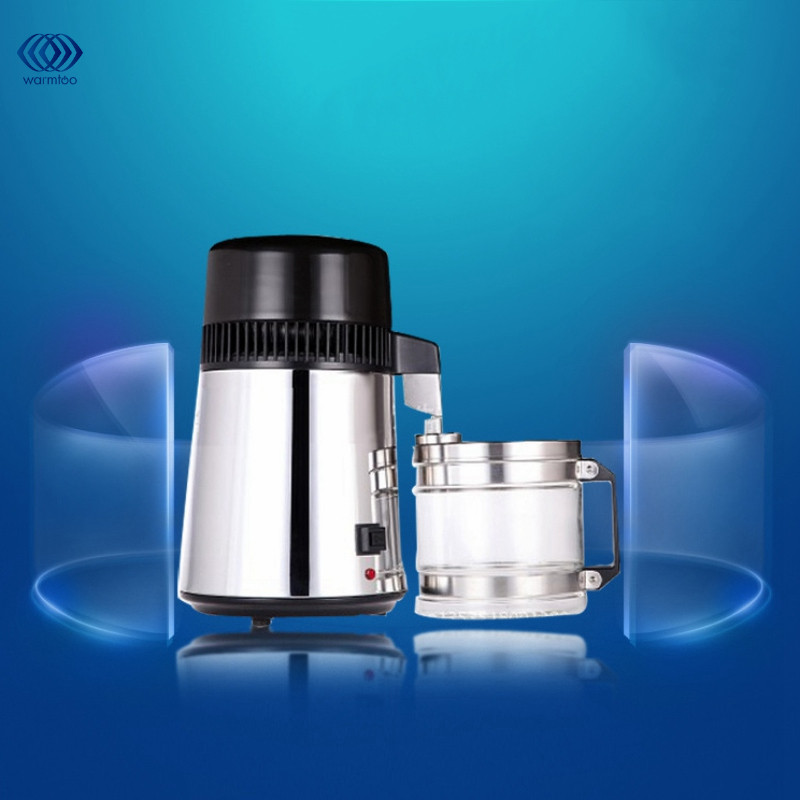 750W 4L Capacity Pure Water Distiller Purifier 304 Stainless Steel Container Filter Distilled Water Device 220V spe pem usb charging h4high rich hydrogen water bottle lonizer w selfcleaning function electrolytic distilled mineral pure wate