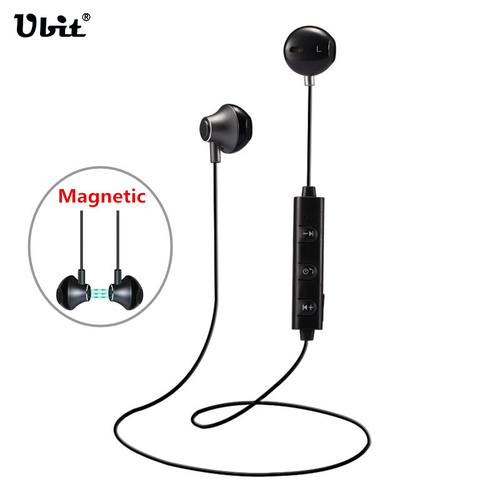 Ubit Wireless Bluetooth Headphone Magnetic Stereo Sport Running Earphone Portable Bluetooth Headset With Mic For IPhone Xiaomi