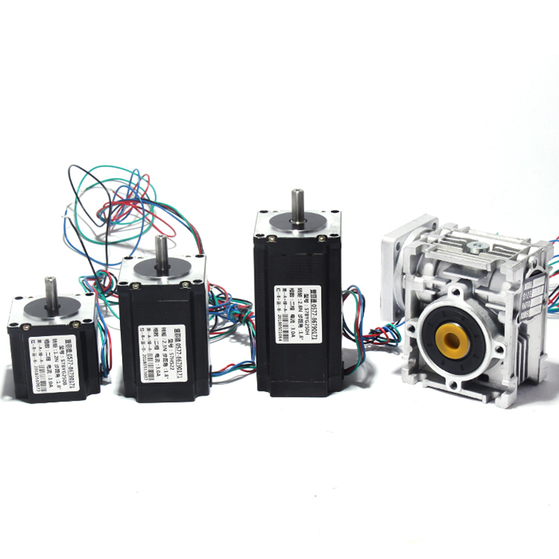 Reduction ratio 1:10 Worm Geared Stepper Motor 57 Hybrid Stepper Speed Reducer for Router Engraver YReduction ratio 1:10 Worm Geared Stepper Motor 57 Hybrid Stepper Speed Reducer for Router Engraver Y