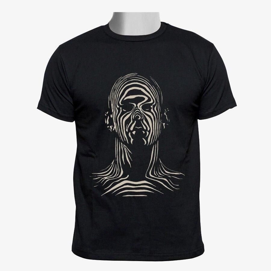 Floor Elevators Custom Men Black T Shirt Size S-3XL Short Sleeve Cheap Sale Cotton T-Shirt Men Cool Tees Tops PLUS SIZE