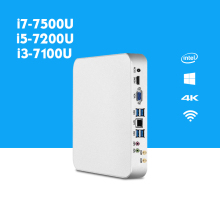 X26UL Mini PC i7 7500U i5 7200U i3 7100U Windows 10 DDR4 4GB 8GB 16GB RAM 4K UHD Gaming PC HTPC HDMI VGA Wireless WiFi