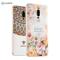 Super 3D Relief Printing Clear Soft TPU Case For Huawei Mate 9 Pro Phone Back Cover