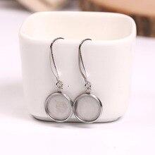 цены onwear 5 pairs blank 12mm cabochon earring base settings diy stainless steel ear wire hooks diy earrings accessories