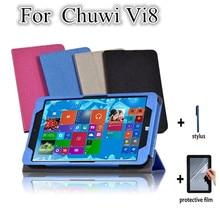 Vi8 складной фолио-клавиатура ультра тонкий планшет подставка чехол для Chuwi VI8 8.0 Win8 планшет PC стойки сальто кожаный чехол + защитные пленки