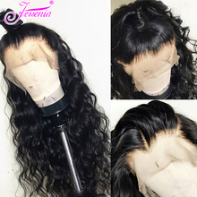 150 Density Water Wave Wig Human Hair  Lace Front Wigs Black Women Pre Plucked With Baby Brazilian 13*4 wigs