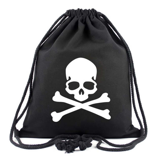 placeholder New Gengar Backpacks Skull Drawstring Bags Devil Eyed Leaf  Luffy White Beard Super Man Batman American