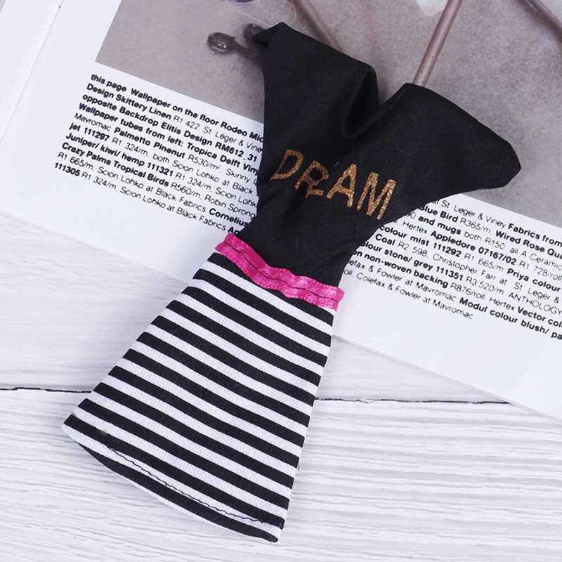 Ручной работы модный наряд короткое платье мультфильм милый узор футболка леггинсы аксессуары для брюк одежда для игрушки куклы 1 шт