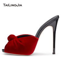 Fashion Summer High Heel Women Sandals And Slippers Handmade Shoes Sexy Stripper Shoes Party Open Toe