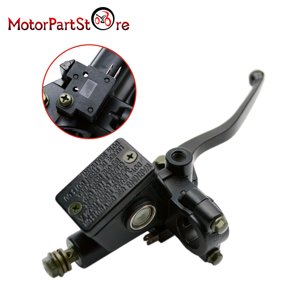 Right Front Hydraulic Brake Handle with Master Cylinder For GY6 Chinese Scooter Yamaha Kawasaki Motorcycle ATV Moped Parts @20 left side hydraulic rear brake handle assy for chinese scooter honda yamaha jog kawasaki motorcycle atv moped spare parts