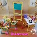 Новинка классе стулья + доска подарочный комплект для кукол кукольный дом мебельный гарнитур для куклы барби девочки DIY игрушки