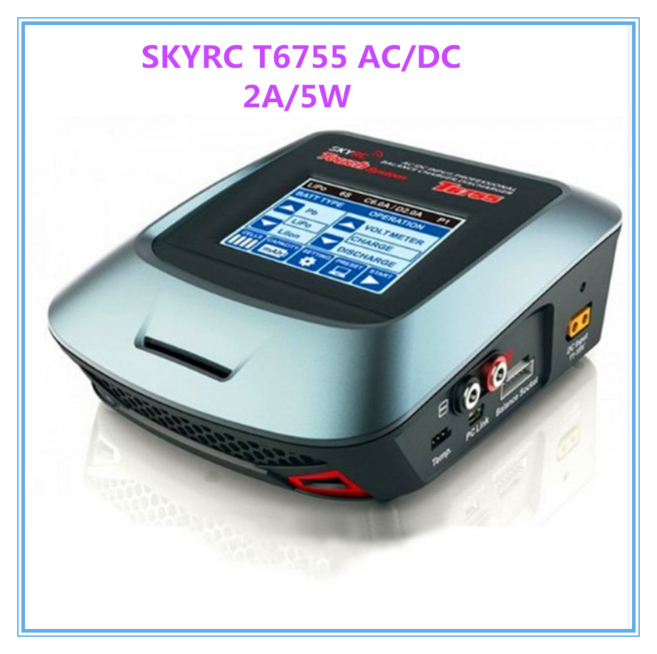 SKYRC T6755 AC/DC Professional Balance Charger/Discharger 2A/5W with Touch Screen 800g electronic balance measuring scale with different units counting balance and weight balance