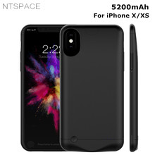 NTSPACE 5200mAh Case For iPhone X Battery Charger Cases Portable Power Bank Charging XS External