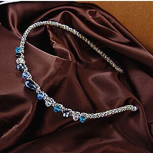 1 PC NEW Women Colorful super flash card irregular Crystal Metal Hairband Lady Girls Bling Headband Jewelry Hair Accessorie