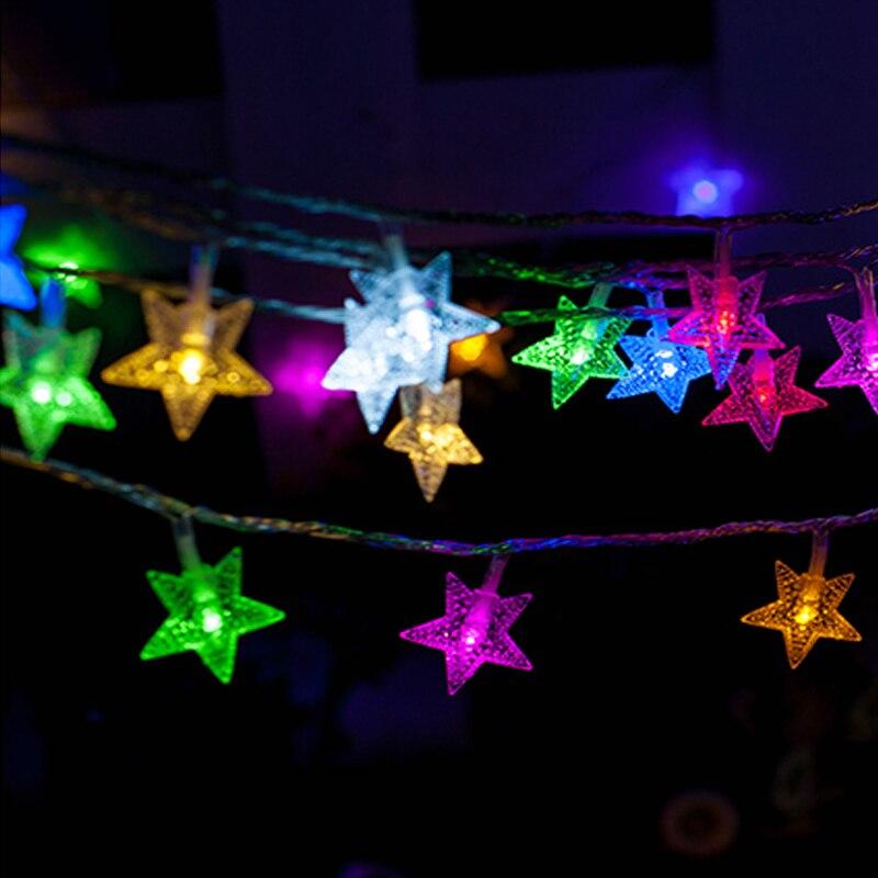 10pcs led string light star styled lamp 10m 50led christmas lights star fairy lights wedding decoration lighting