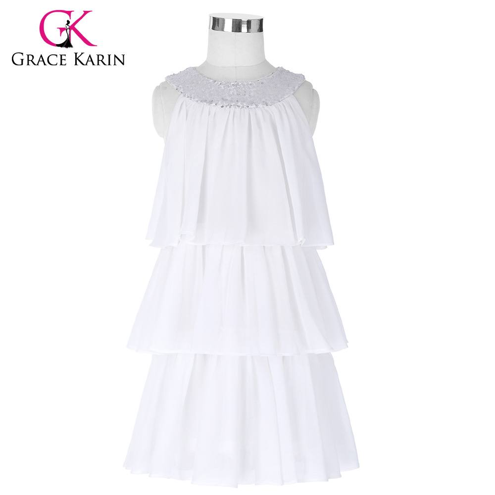 Grace karin lace princess flower girl dresses for weddings kids brand new long flower girl dresses white blue party pageant communion dress little girls kids children mightylinksfo