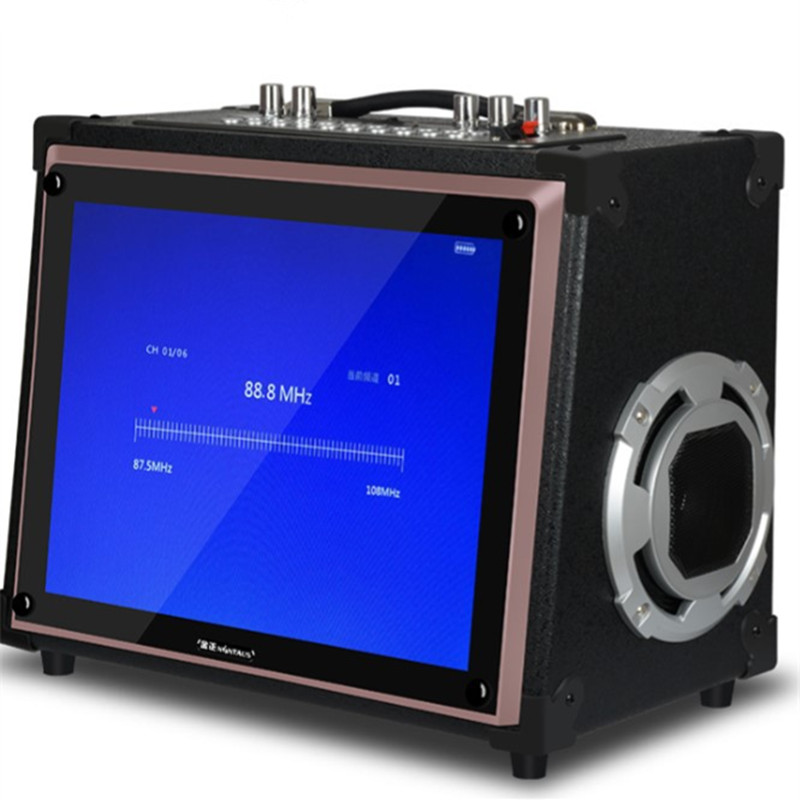 Портативный высокой мощности динамик Bluetooth стерео K песня аудио видео беспроводной MP3 плеер карты U диск воспроизводить музыку караоке сабву