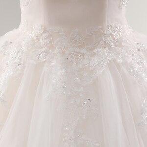 Image 5 - Fansmile 2020 رداء دي ماريج الأميرة الأبيض الكرة فساتين الزفاف Vestido De Noiva حجم كبير مخصص فساتين الزفاف FSM 564F