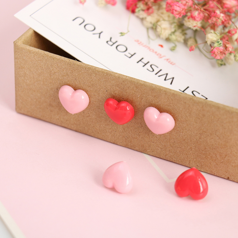 TUTU Heart shape 50pcs Plastic Quality Cork Board Safety Colored Push Pins Thumbtack Office School Accessories Supplies H0001 2