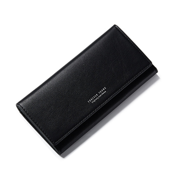 Women's Solid Color Elegant Wallet Bags and Wallets Hot Promotions New Arrivals Women's Wallets Color: Black