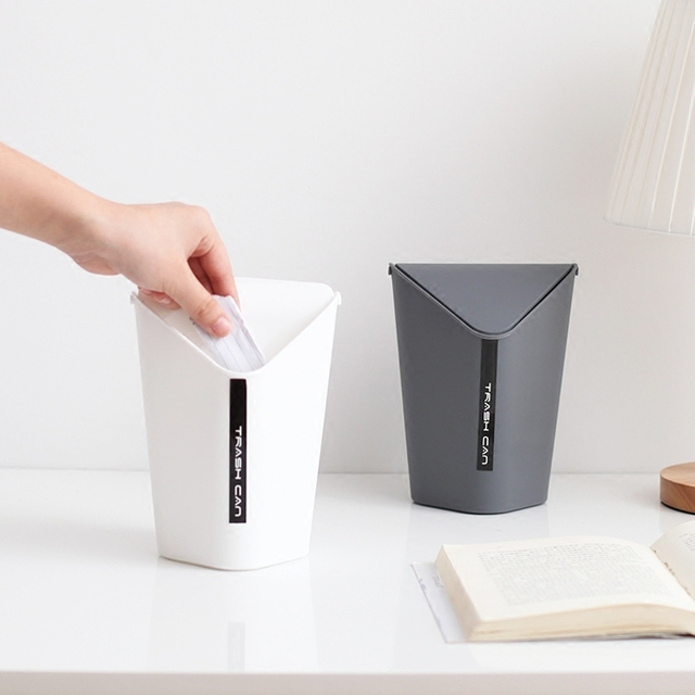 2 Size Creative Fashion Home Use/Office Desktop Mini Plastic Trash Can  Kitchen Bathroom Corner