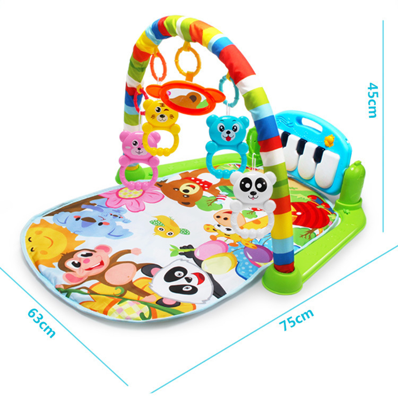 3 in 1 Baby Play Mat Rug Toys Kid Crawling Music Play Game Developing Mat with Piano Keyboard Infant Carpet Education Rack Toy art